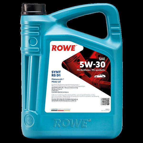 Rowe Hightec Synt RS D1 SAE 5W-30 Motoröl, 5l