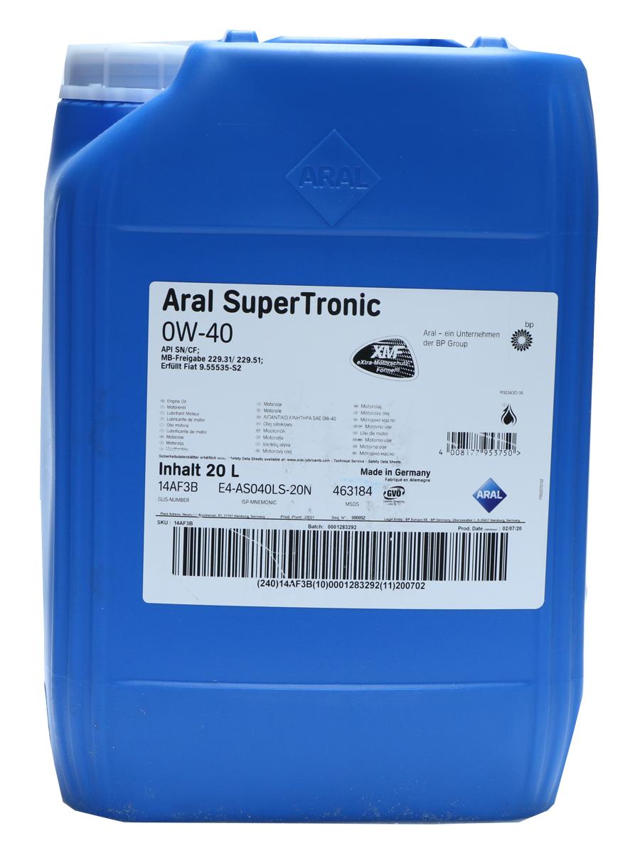 Aral SuperTronic 0W-40 Motoröl 20l