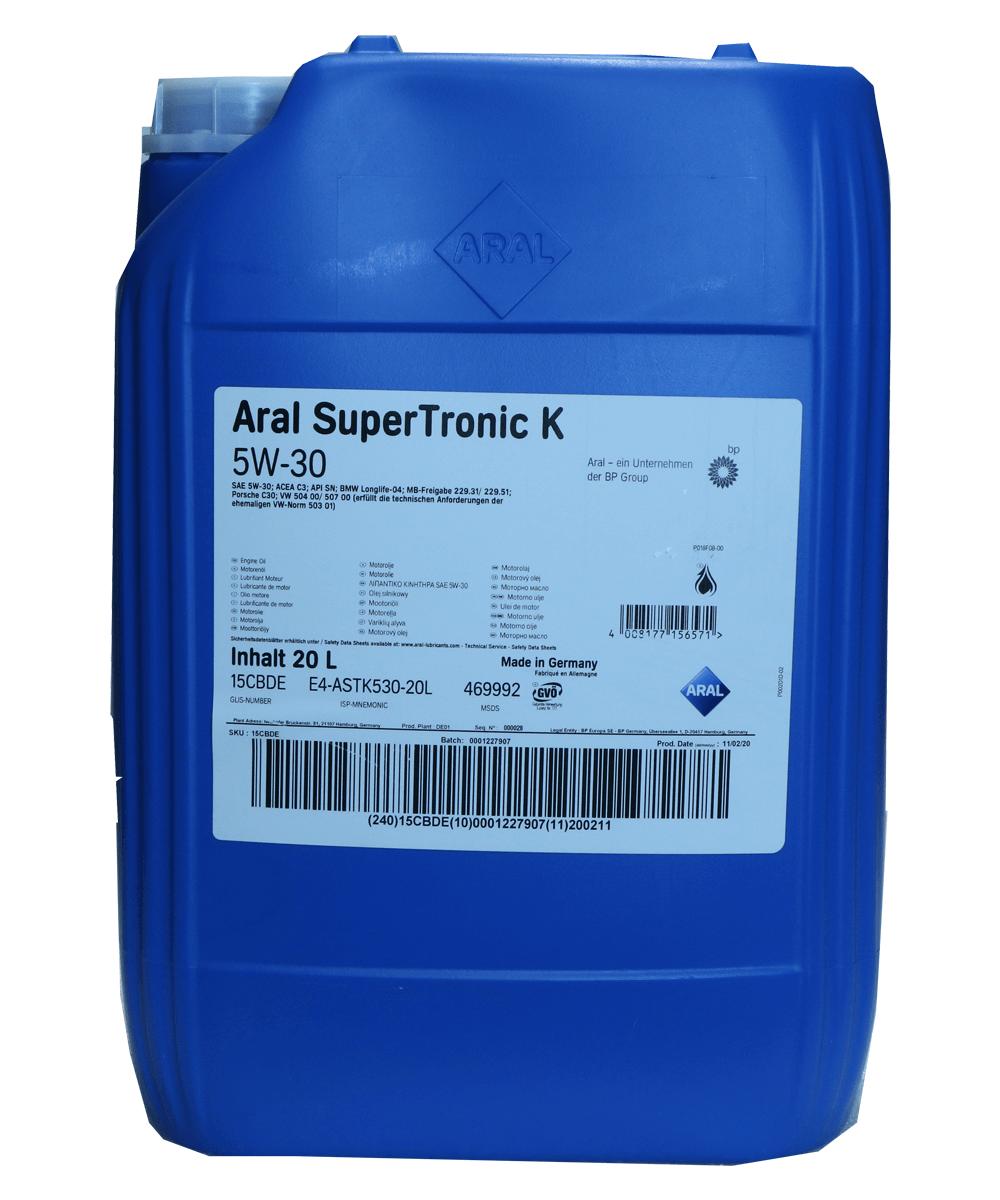 Aral SuperTronic K 5W-30 Motoröl 20l