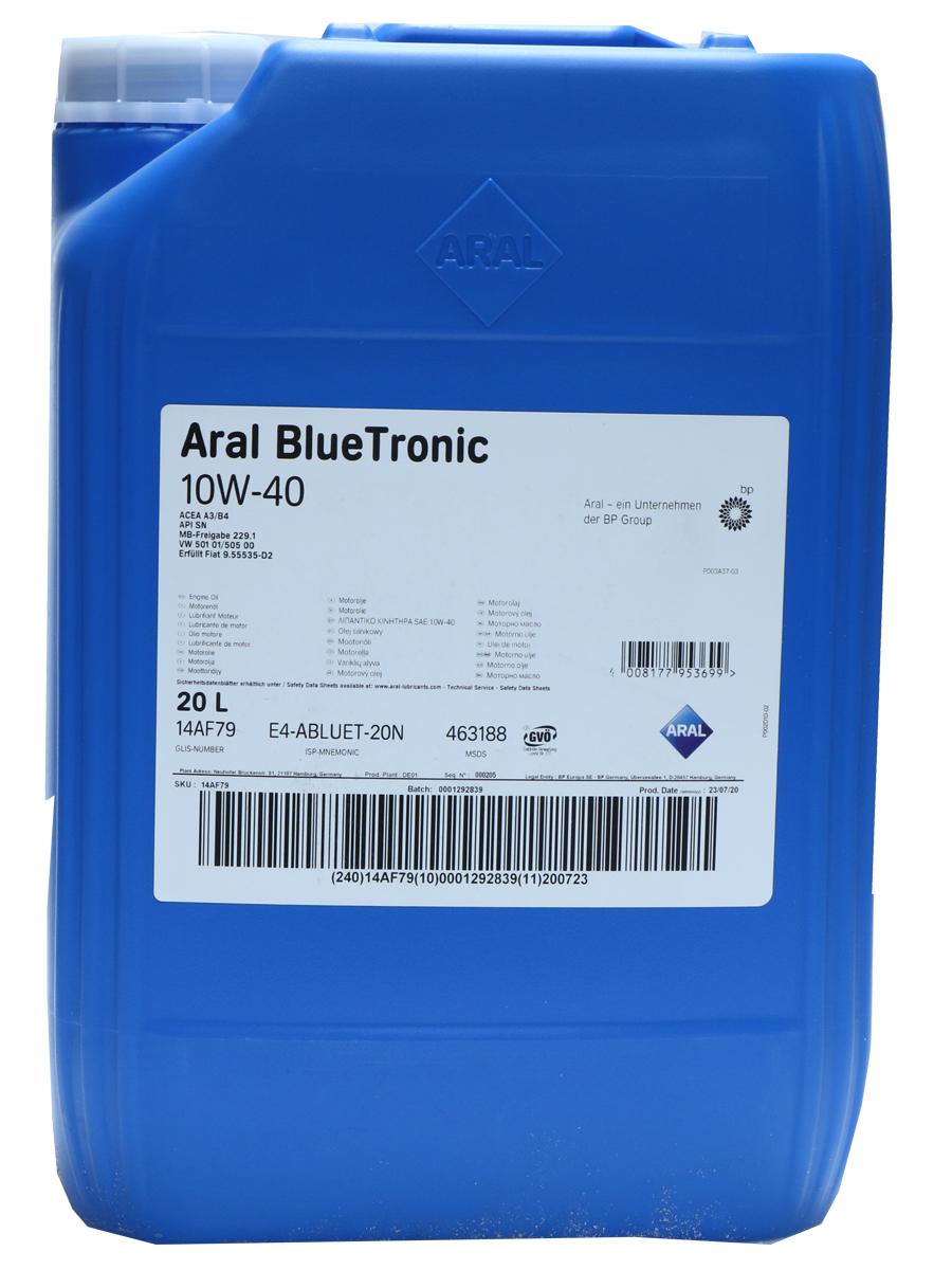Aral BlueTronic 10W-40 Motoröl 20l