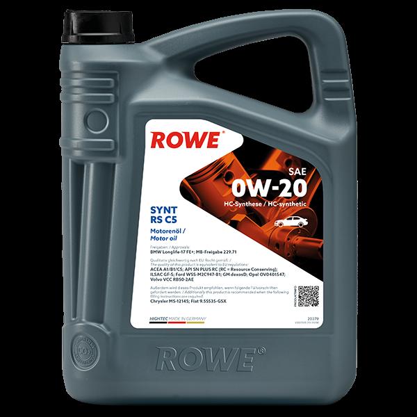 Rowe Hightec Synt RS C5 SAE 0W-20 Motoröl, 5l