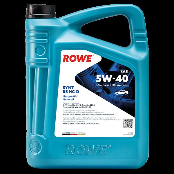Rowe Hightec Synt RS HC-D SAE 5W-40 Motoröl, 5l