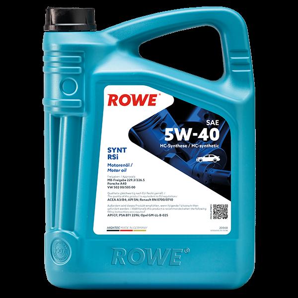Rowe Hightec Synt RSi SAE 5W-40 Motoröl, 5l