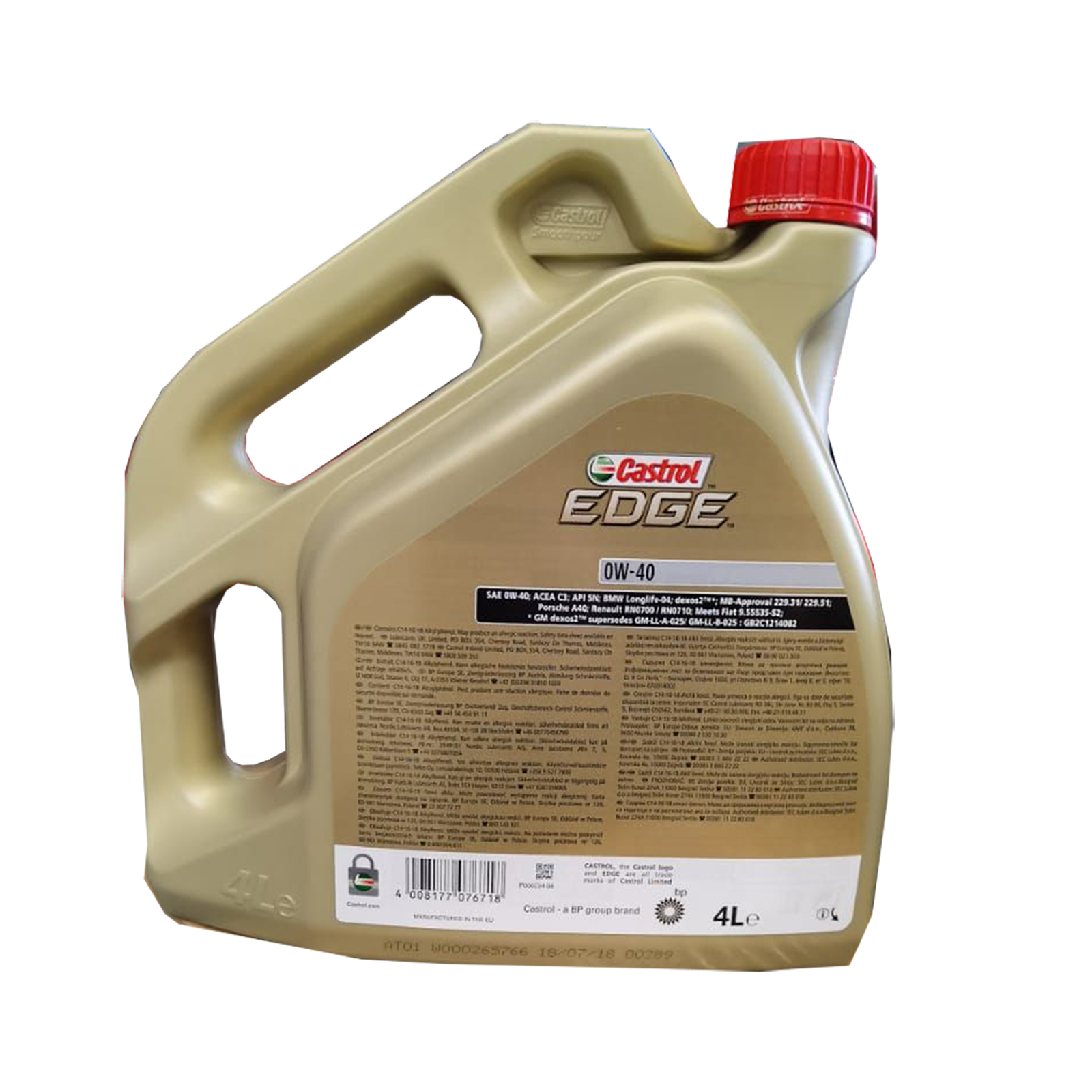 Castrol Edge 0W-40 Motoröl, 4l