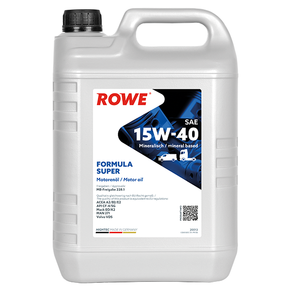 Rowe Hightec Formula Super SAE 15W-40 Motoröl, 5l