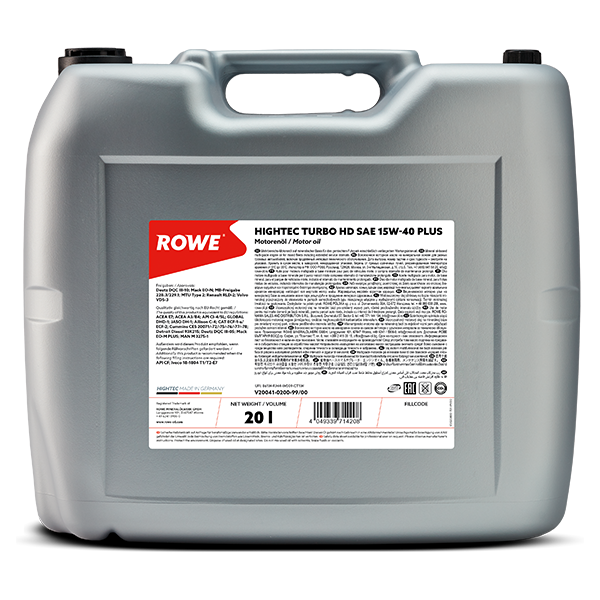 Rowe Hightec Turbo HD SAE 15W-40 PLUS Motoröl, 20l