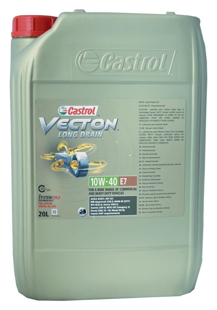 Castrol Vecton Long Drain E7 10W-40 Motoröl 20l