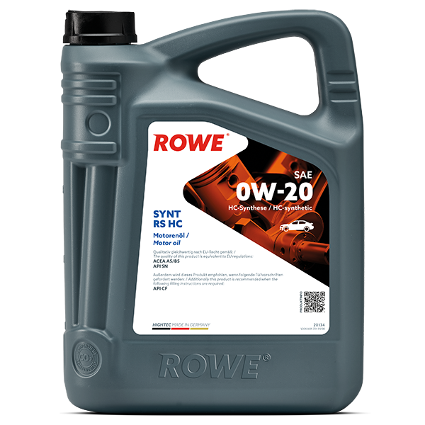 Rowe Hightec Synt RS HC SAE 0W-20 Motoröl, 5l