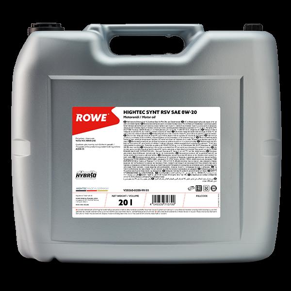 Rowe Hightec Synt RSV SAE 0W-20 Motoröl, 20l