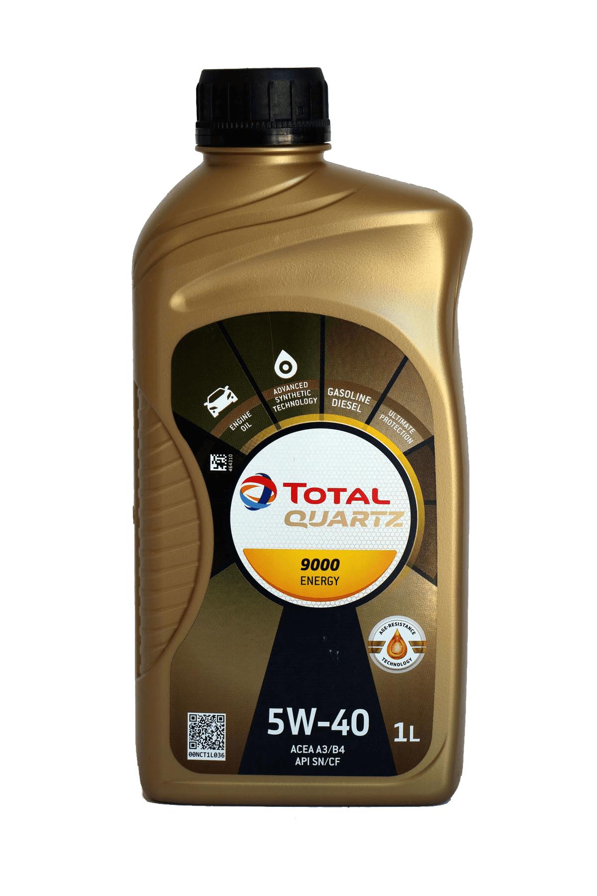 Total Quartz 9000 ENERGY 5W-40 Motoröl, 1l