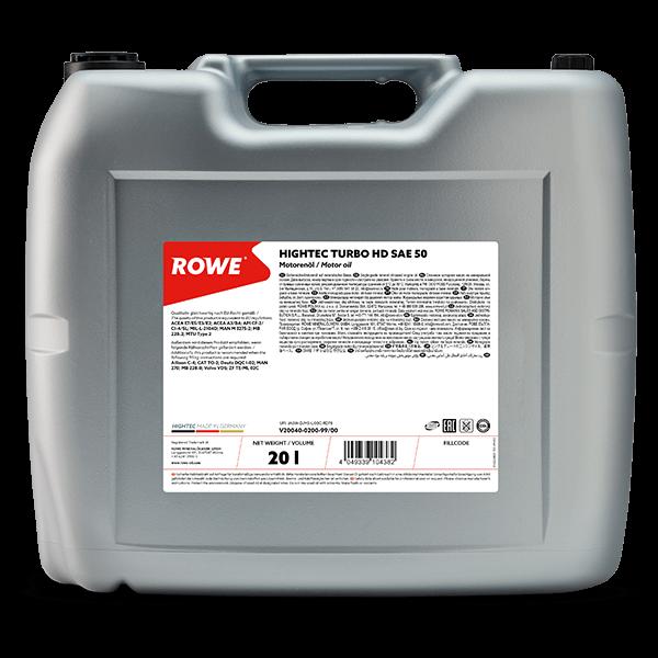 Rowe Hightec Turbo HD SAE 50 Motoröl, 20l