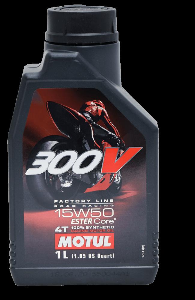 Motul 300V FL Road Racing 15W-50 Motorrad Motoröl 1l