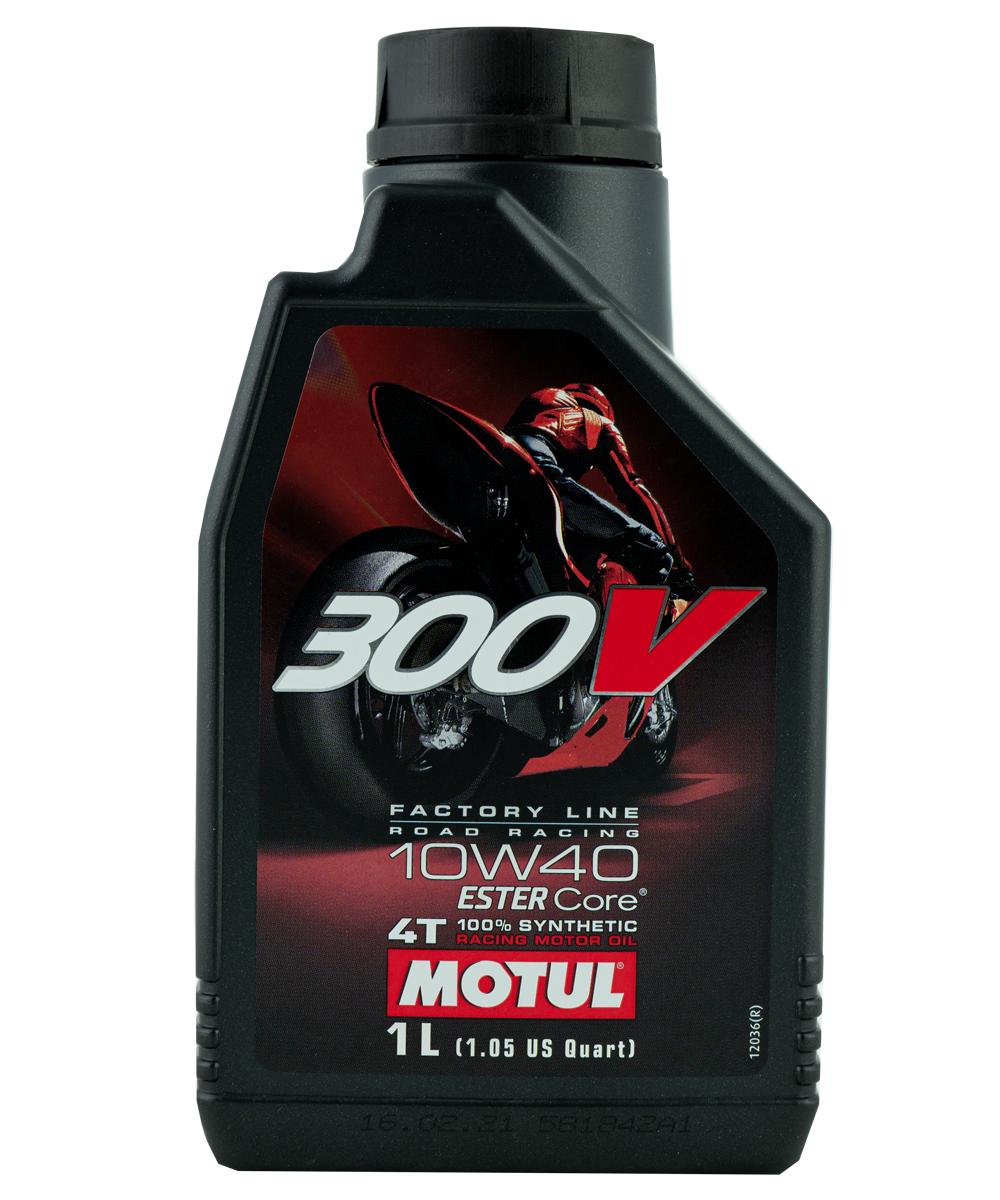 Motul 300V FL Road Racing 10W-40 Motorrad Motoröl 1L