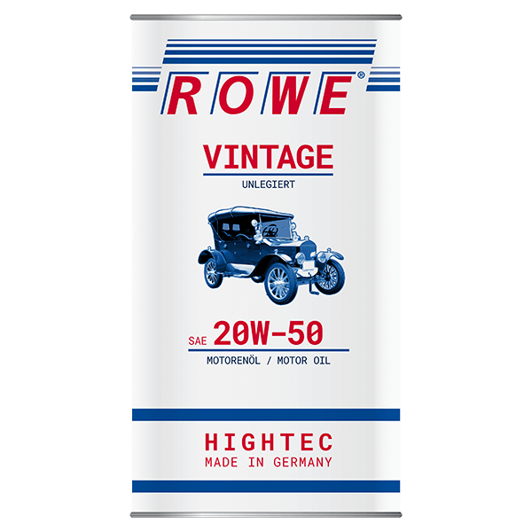 Rowe Hightec Vintage SAE 20W-50 UNLEGIERT Classicöl/Motoröl, 5l
