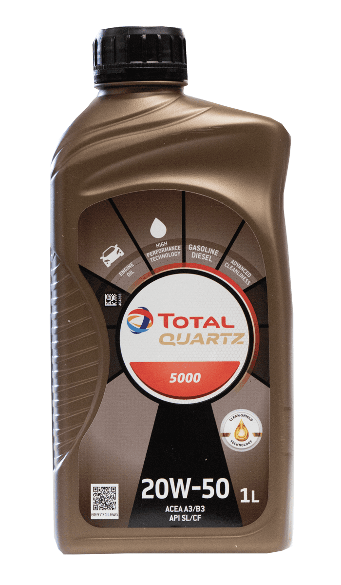 Total Quartz 5000 20W-50 Motoröl, 1l