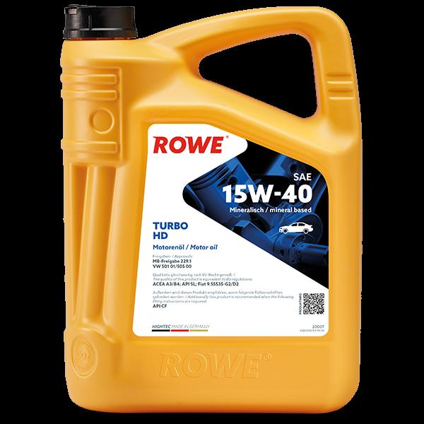 Rowe Hightec Turbo HD SAE 15W-40 Motoröl, 5l