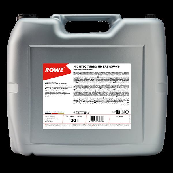 Rowe Hightec Turbo HD SAE 15W-40 Motoröl, 20l