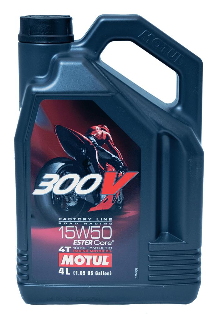 Motul 300V FL Road Racing 15W-50 Motorrad Motoröl 4l