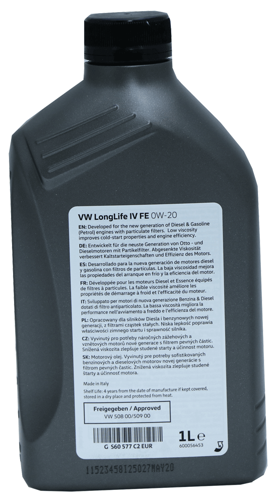 Volkswagen Group Longlife IV FE 0W-20 Motoröl 1l