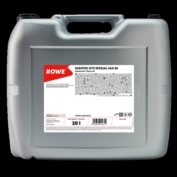 Rowe Hightec GTS SPEZIAL SAE 50 Motoröl, 20l