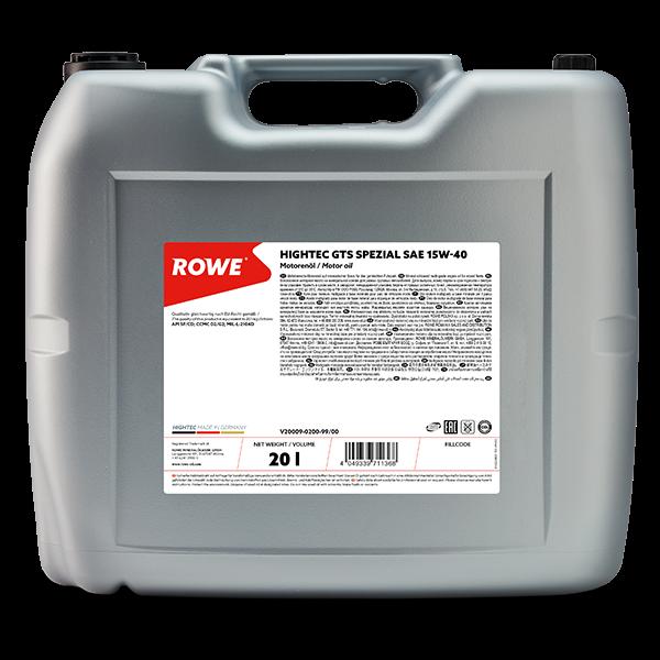 Rowe Hightec GTS SPEZIAL SAE 15W-40 Motoröl, 20l