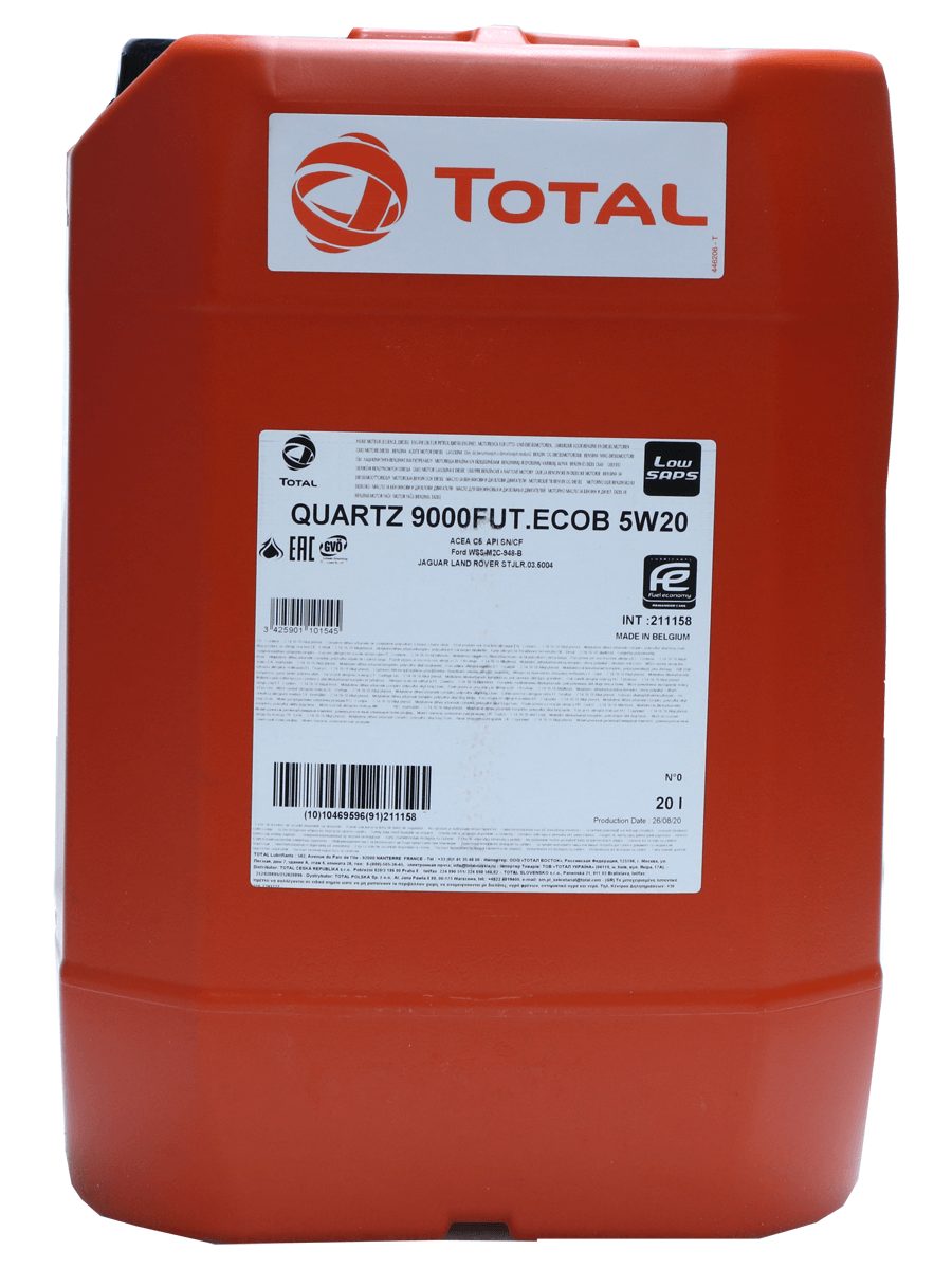 Total Quartz 9000 FUTURE ECOB 5W-20 Motoröl, 20l