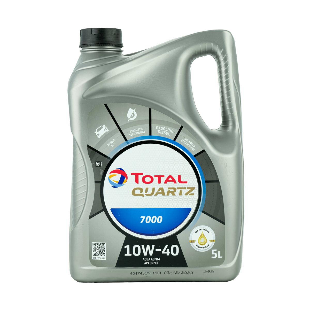 Total Quartz 7000 10W-40 (SN) Motoröl, 5l