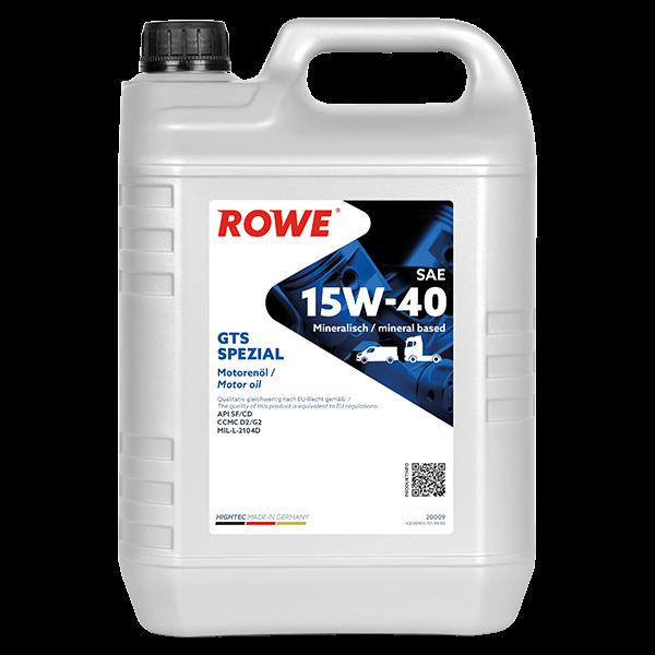 Rowe Hightec GTS SPEZIAL SAE 15W-40 Motoröl, 5l
