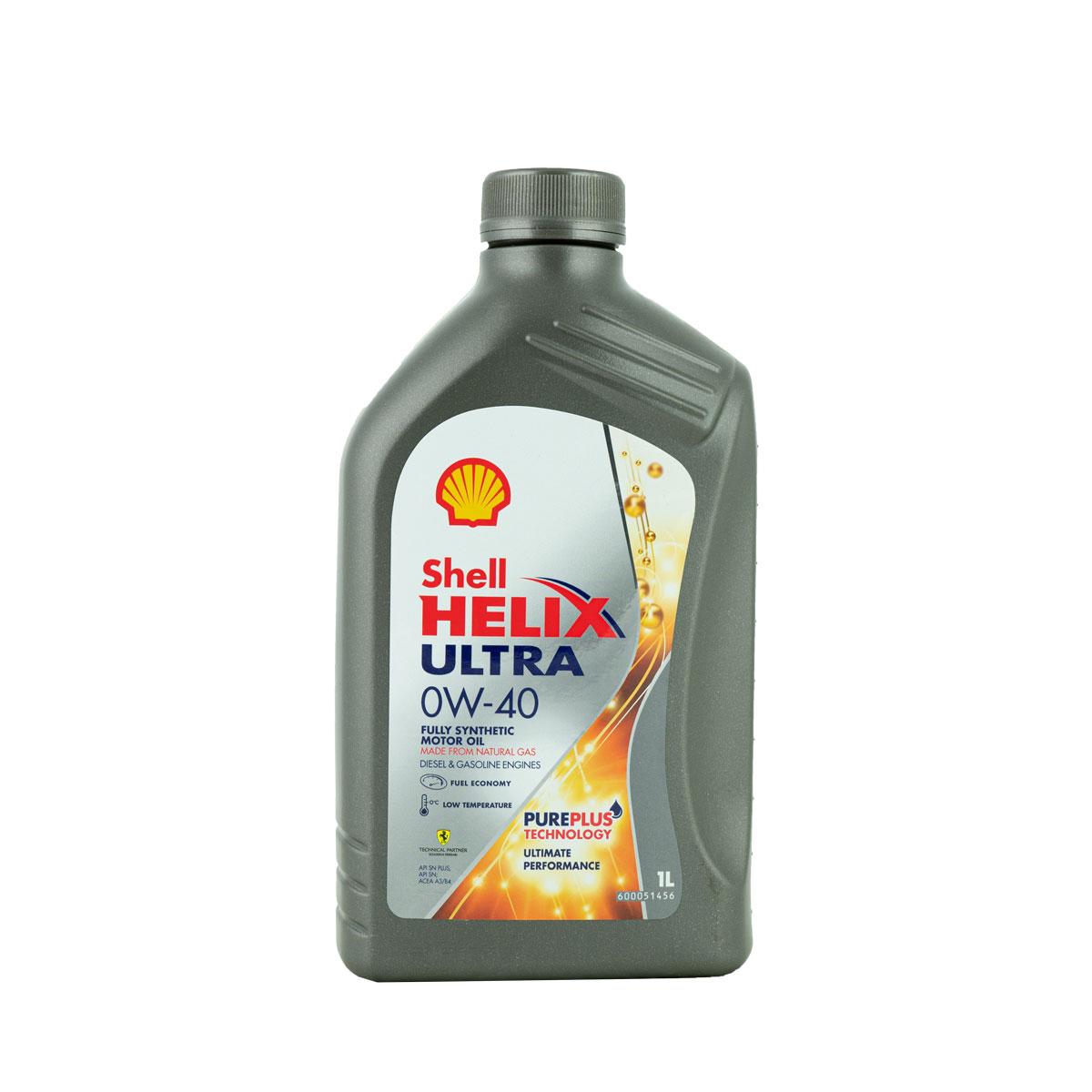 Shell Helix Ultra 0W-40 Motoröl, 1l