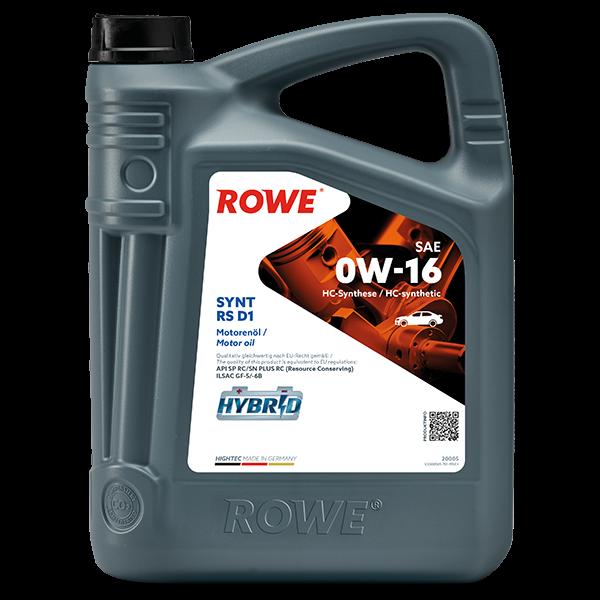 Rowe Hightec Synt RS D1 SAE 0W-16 Motoröl, 5l