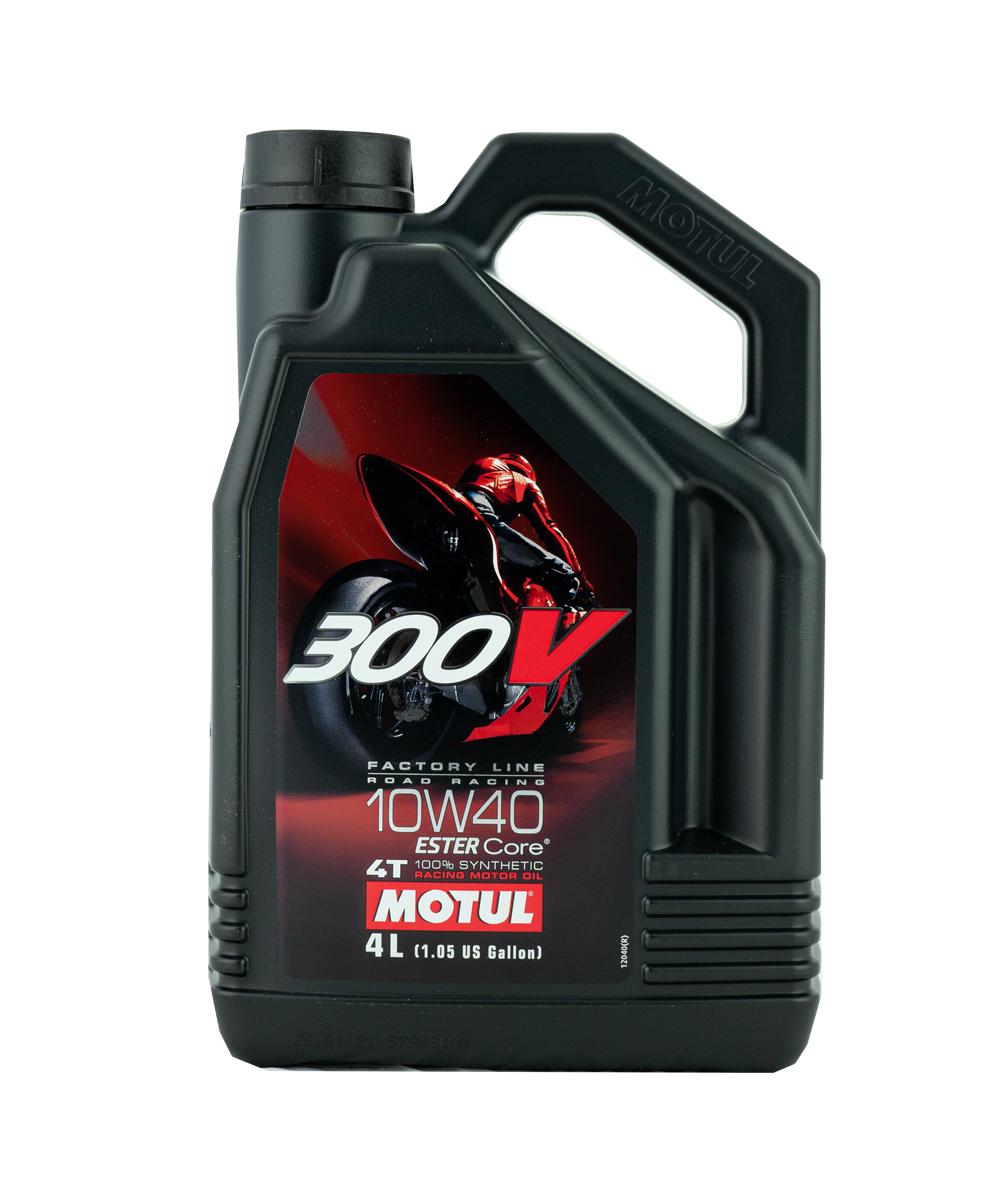Motul 300V FL Road Racing 10W-40 Motorrad Motoröl 4L