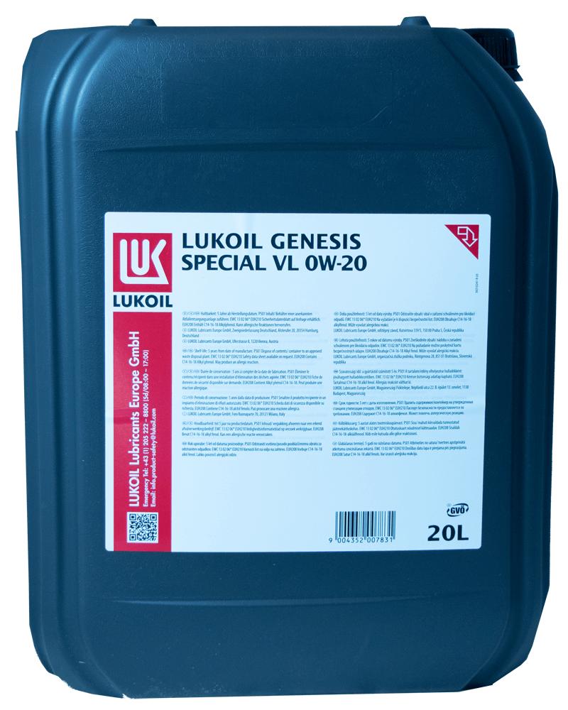 Lukoil Genesis Special VL 0W-20 Motoröl 20l