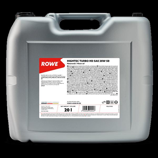 Rowe Hightec Turbo HD SAE 20W-50 Motoröl, 20l