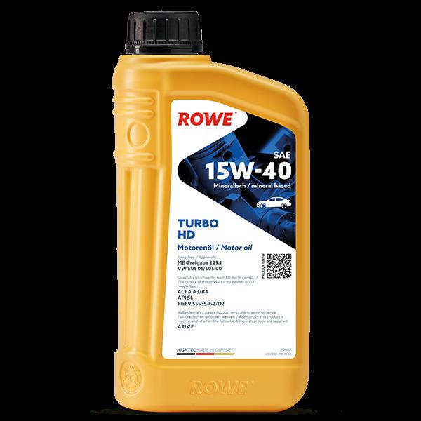 Rowe Hightec Turbo HD SAE 15W-40 Motoröl, 1l