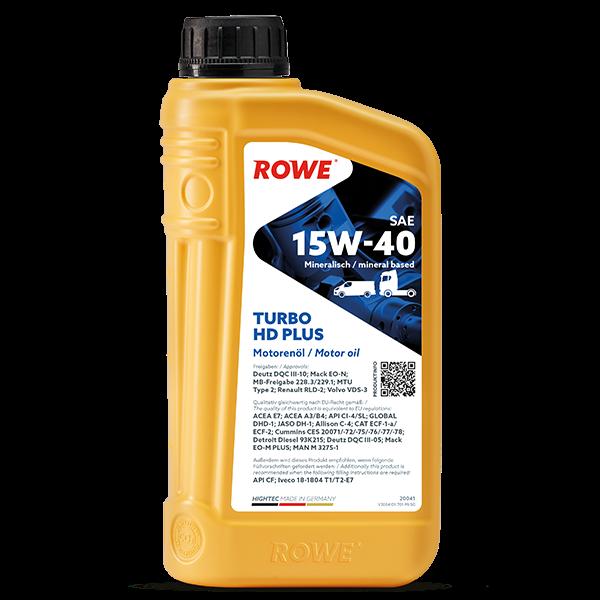 Rowe Hightec Turbo HD SAE 15W-40 PLUS Motoröl, 1l