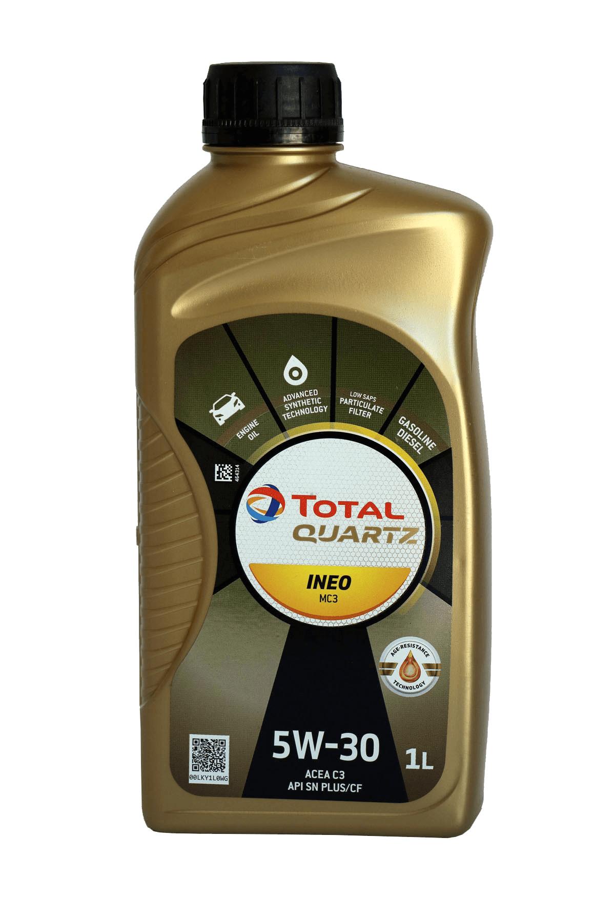 Total Quartz INEO MC3 5W-30 Motoröl, 1l