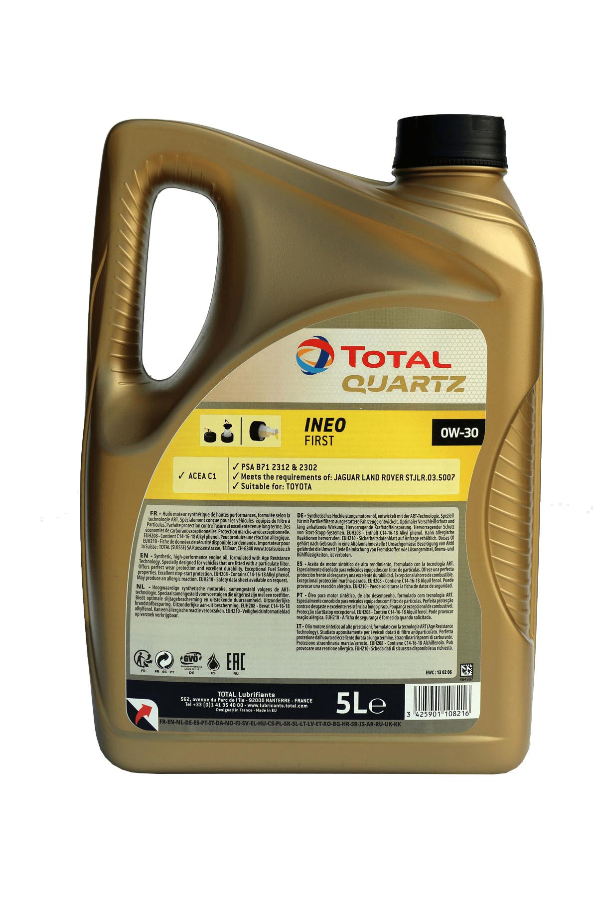 Total Quartz INEO FIRST 0W-30 Motoröl, 5l