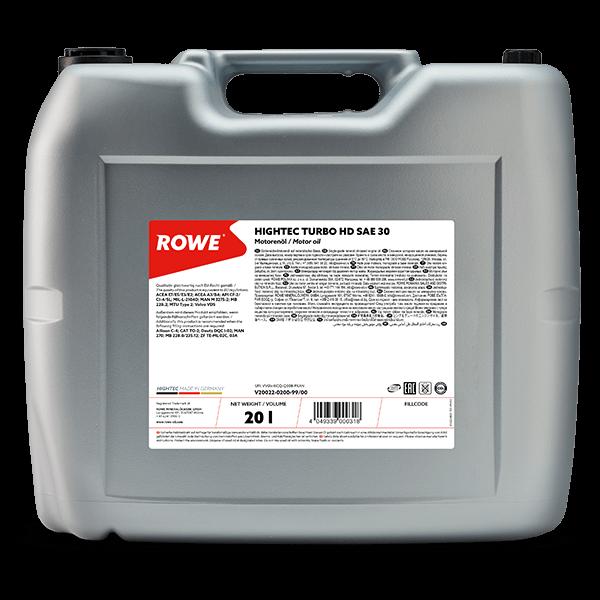 Rowe Hightec Turbo HD SAE 30 Motoröl 20l