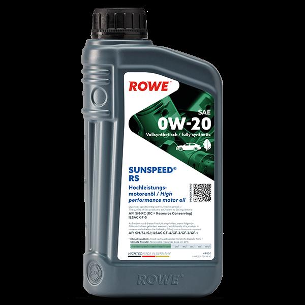 Rowe Hightec Sunspeed® RS SAE 0W-20 Motoröl, 1l